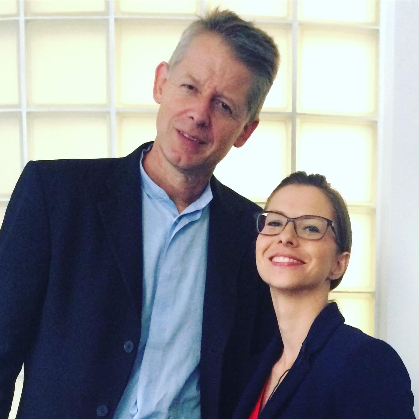 prof. Adrew Moravcsik i Boska Matka, fot. Anna Kowalczyk
